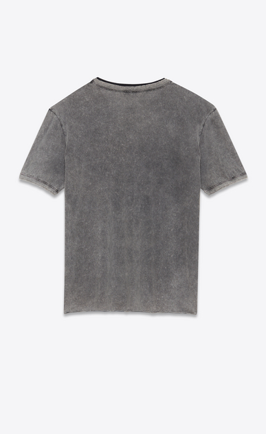 SAINT LAURENT T-Shirt and Jersey D Boyfriend T-shirt in gray and faded black destroy jersey b_V4