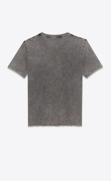 SAINT LAURENT T-Shirt and Jersey D T-shirt with Saint Laurent square in faded black destroyed jersey b_V4