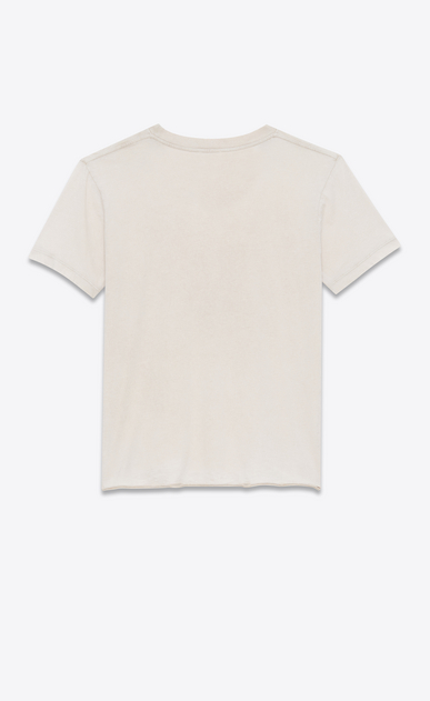 SAINT LAURENT T-Shirt and Jersey Woman T-shirt with Saint Laurent square in light pink destroyed jersey b_V4
