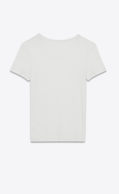 SAINT LAURENT T-Shirt and Jersey D Tight T-shirt in off-white viscose jersey voile b_V4