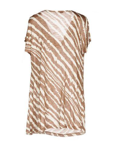 Фото 2 - Женскую футболку GRAN SASSO светло-коричневого цвета