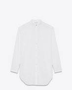 SAINT LAURENT Classic Shirts D Oversized striped shirt in chalk-colored cotton f