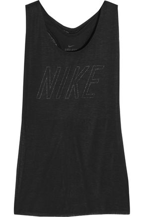 NIKE Layered cutout Dri-FIT stretch-jersey tank