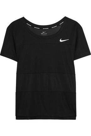 NIKE Paneled Dri-FIT stretch-jersey T-shirt