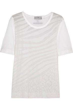 ADIDAS by STELLA McCARTNEY Devoré cotton-blend T-shirt