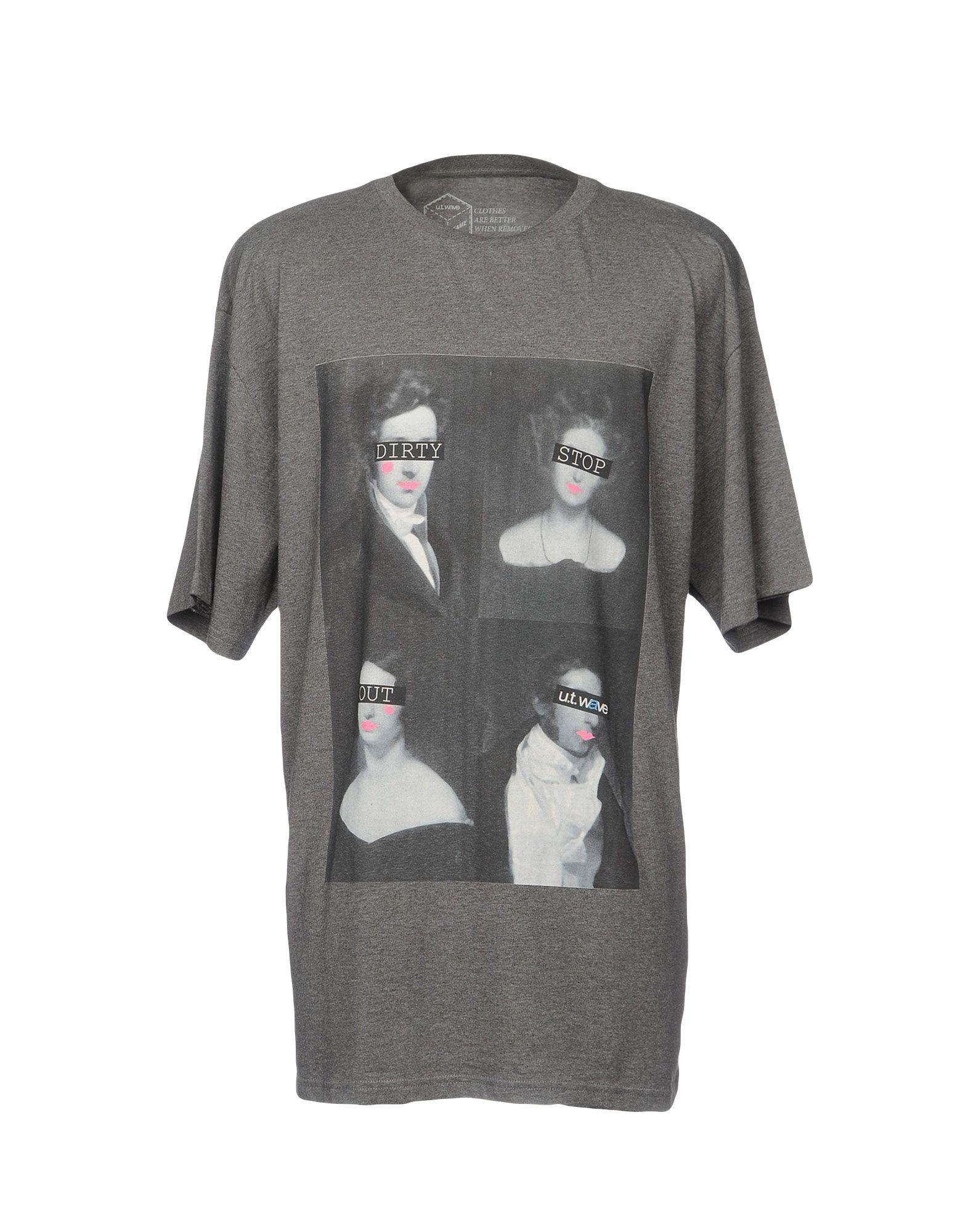 《送料無料》U.T. WAVE メンズ T シャツ グレー S コットン 100%