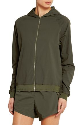 LAAIN Stretch-crepe hooded jacket