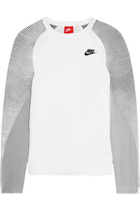 NIKE Tech Fleece cotton-blend jersey and stretch-knit sweatshirt