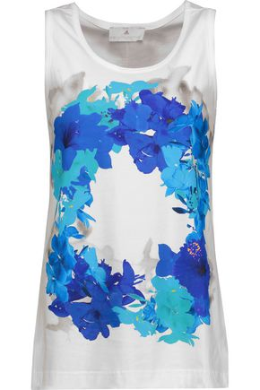 ADIDAS by STELLA McCARTNEY Floral-print cotton top