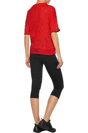 ADIDAS by STELLA McCARTNEY Cotton-blend cloqué T-shirt