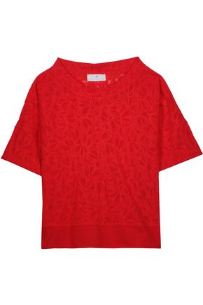 ADIDAS by STELLA McCARTNEY Cotton-blend cloqué T-shirt