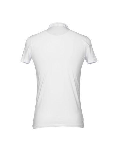 Фото 2 - Мужское поло INDIVIDUAL белого цвета