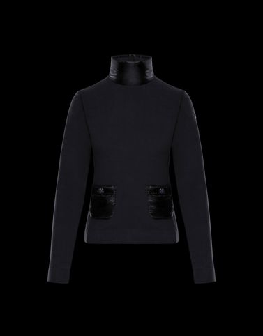 MOCK POLO NECK Black Grenoble Knitwear
