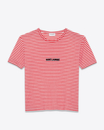 SAINT LAURENT T-Shirt and Jersey U SAINT LAURENT-striped T-shirt in red and white jersey f