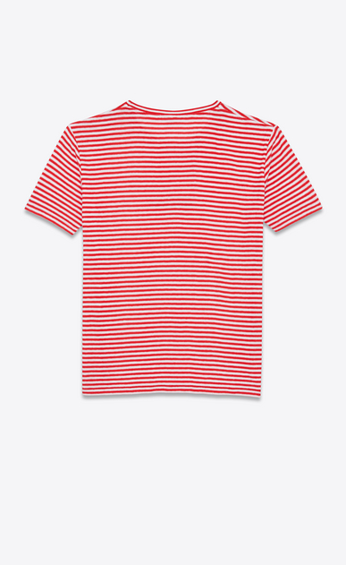 SAINT LAURENT T-Shirt and Jersey U SAINT LAURENT-striped T-shirt in red and white jersey b_V4