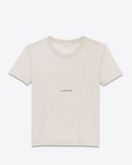 SAINT LAURENT T-Shirt and Jersey U Worn-look T-shirt with Saint Laurent square in light pink jersey f