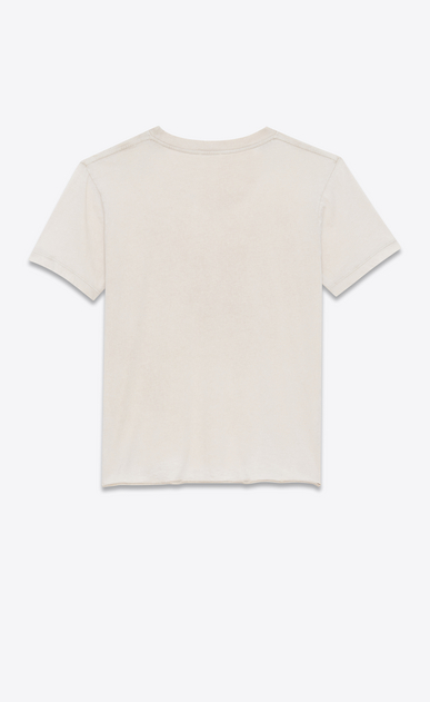 SAINT LAURENT T-Shirt and Jersey U Worn-look T-shirt with Saint Laurent square in light pink jersey b_V4