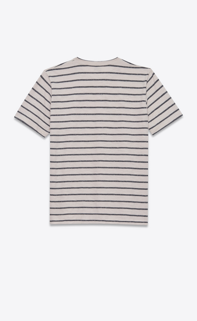 SAINT LAURENT T-Shirt and Jersey U Striped T-shirt in gray and white jersey b_V4