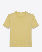SAINT LAURENT T-Shirt and Jersey U Fitted SL t-shirt in yellow cotton jersey f