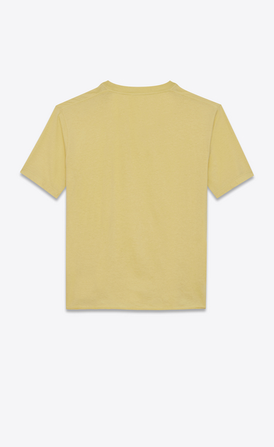 SAINT LAURENT T-Shirt and Jersey U Fitted SL t-shirt in yellow cotton jersey b_V4