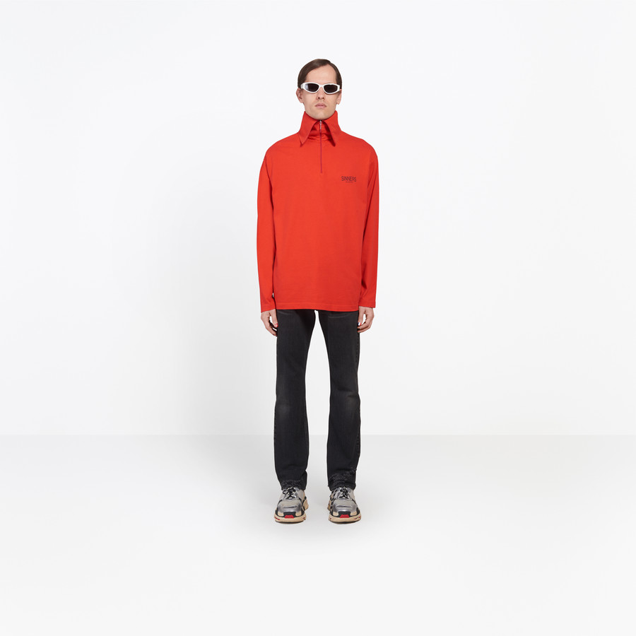 BALENCIAGA Zip Turtleneck Top 'Sinners' Top U g