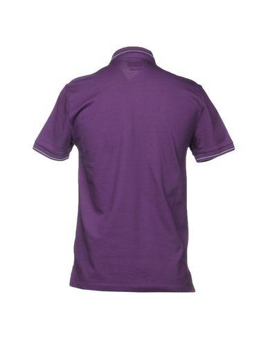 Фото 2 - Мужское поло  фиолетового цвета