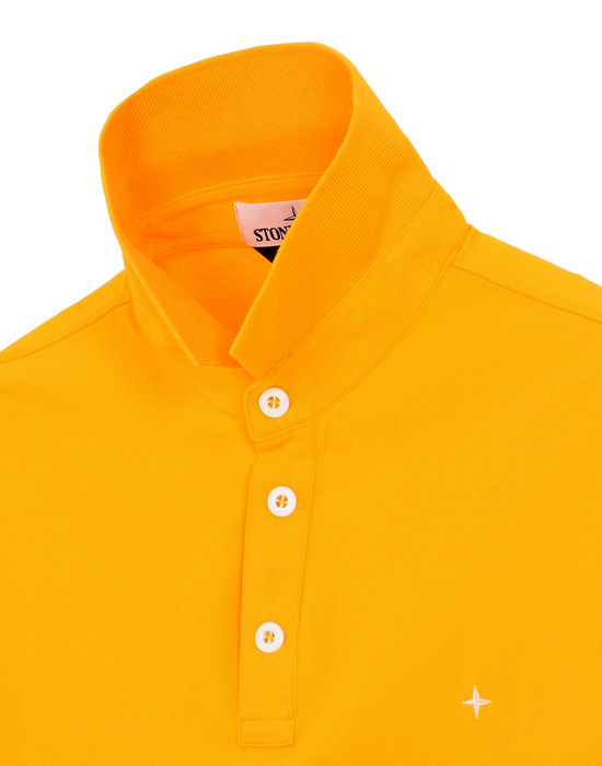 Stone Island Slim Cotton Pique Bright Yellow Polo Shirt Mens S//M//L//XL NWT $140