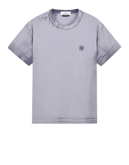 STONE ISLAND 短袖 T 恤 23966 HAND BRUSHED COLOR TREATMENT