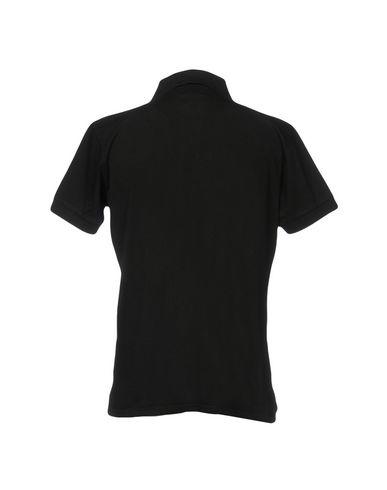 Фото 2 - Мужское поло  черного цвета