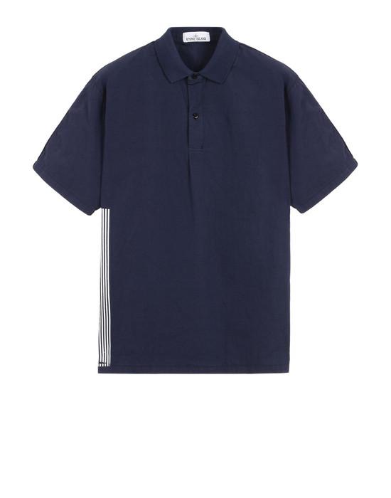 STONE ISLAND Polo shirt 229XX STONE ISLAND MARINA_50 FILI + FOLDED MARINA PRINT