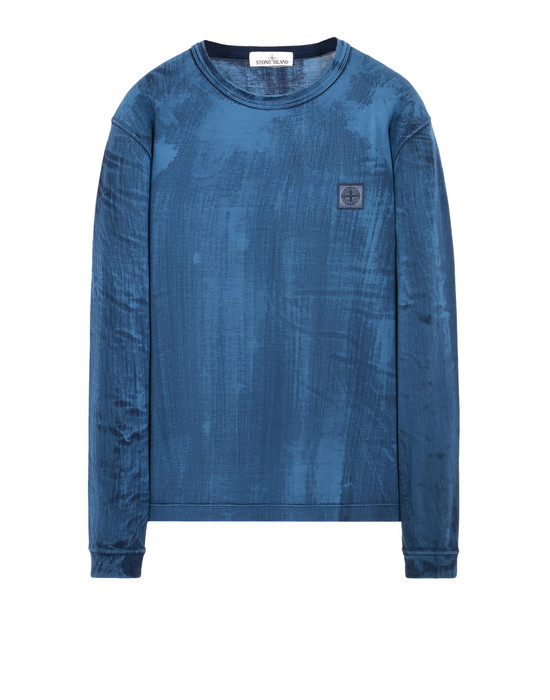 STONE ISLAND T-shirt manches longues 22766 HAND BRUSHED COLOUR TREATMENT