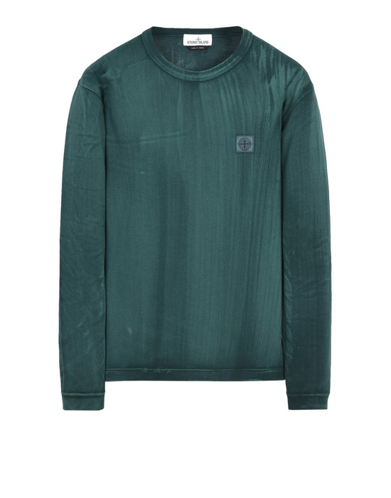 Long sleeve t-shirt 22766 HAND BRUSHED COLOUR TREATMENT STONE ISLAND - 0