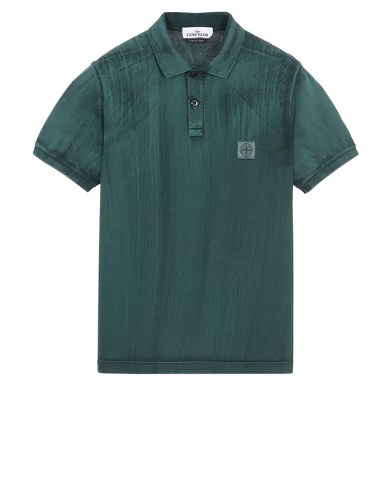 STONE ISLAND Polo 衫 24066 HAND BRUSHED COLOR TREATMENT