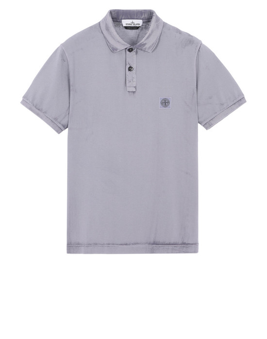 STONE ISLAND Polo shirt 24066 HAND BRUSHED COLOUR TREATMENT