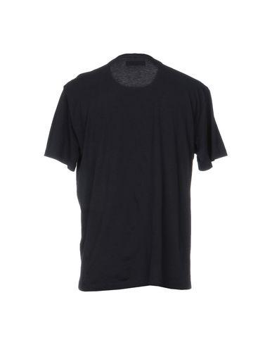Фото 2 - Женскую футболку PAOLO PECORA темно-синего цвета