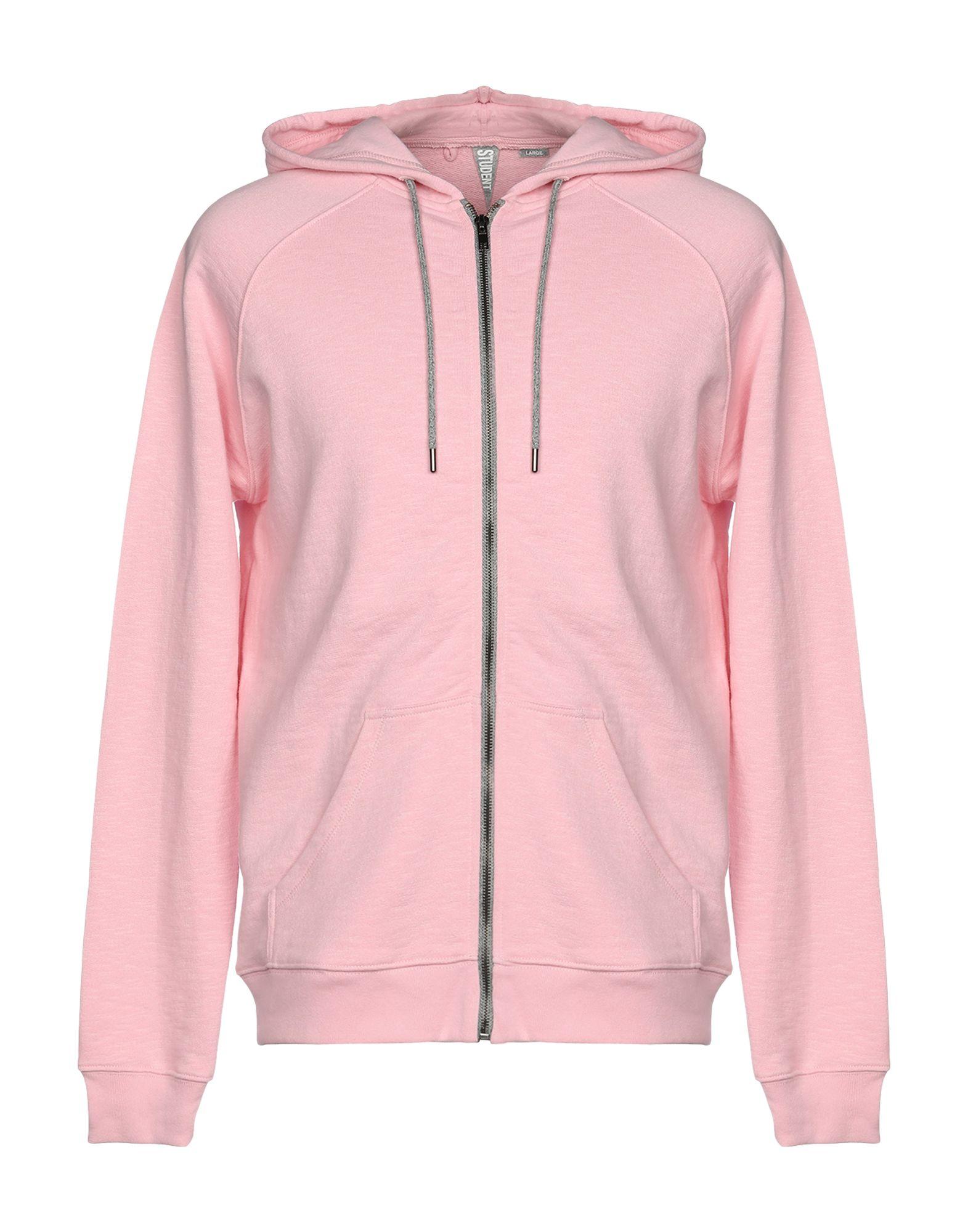 《送料無料》STUDENT メンズ スウェットシャツ ピンク L コットン 100%