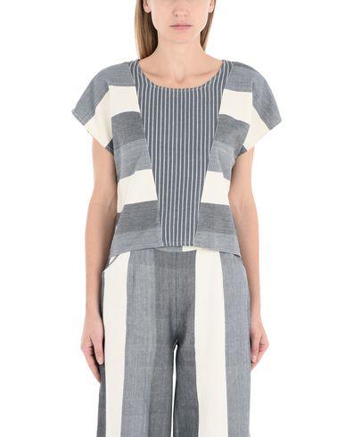Фото 2 - Женскую блузку TRIBE ALIVE грифельно-синего цвета