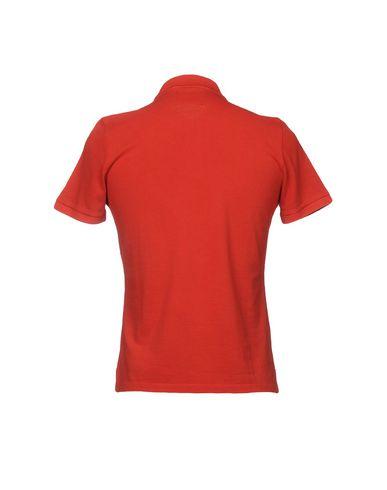 Фото 2 - Мужское поло PEUTEREY красного цвета