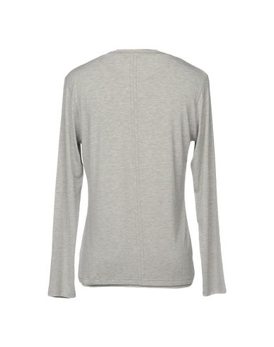 Фото 2 - Женскую футболку PAOLO PECORA светло-серого цвета