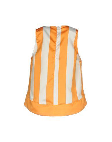 Фото 2 - Топ без рукавов от JIJIL оранжевого цвета