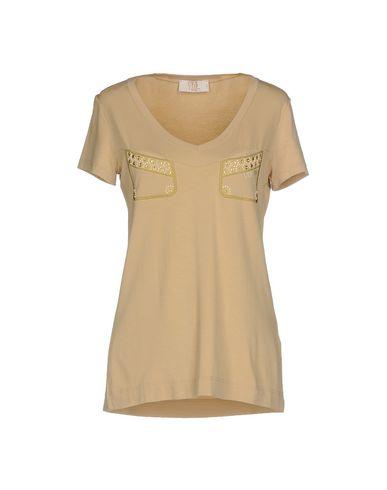 Купить Женскую футболку VDP CLUB бежевого цвета