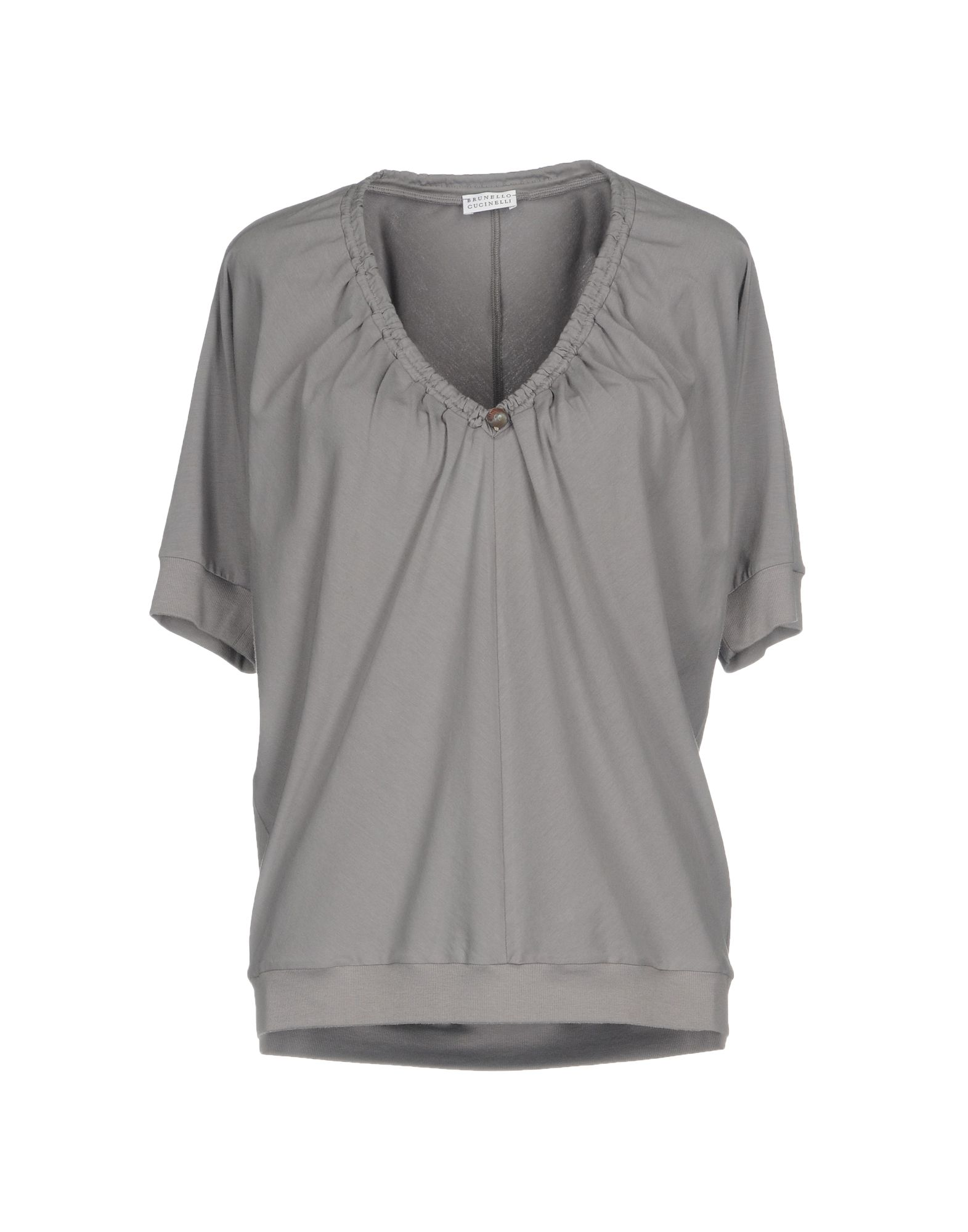 BRUNELLO CUCINELLI Damen T-shirts Farbe Grau Größe 7