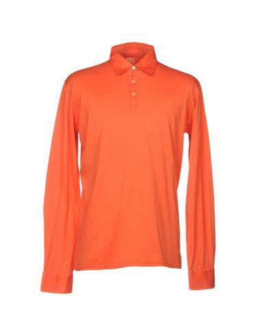 FEDELI メンズ ポロシャツ オレンジ 52 コットン 100%