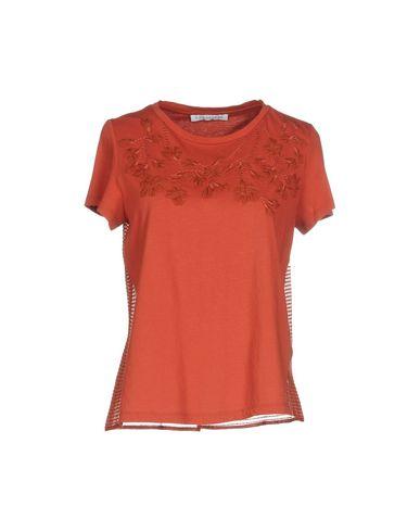 Фото - Женскую футболку CARACTÈRE ржаво-коричневого цвета