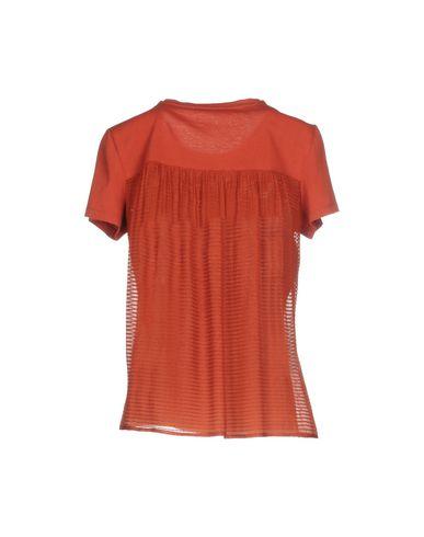Фото 2 - Женскую футболку CARACTÈRE ржаво-коричневого цвета
