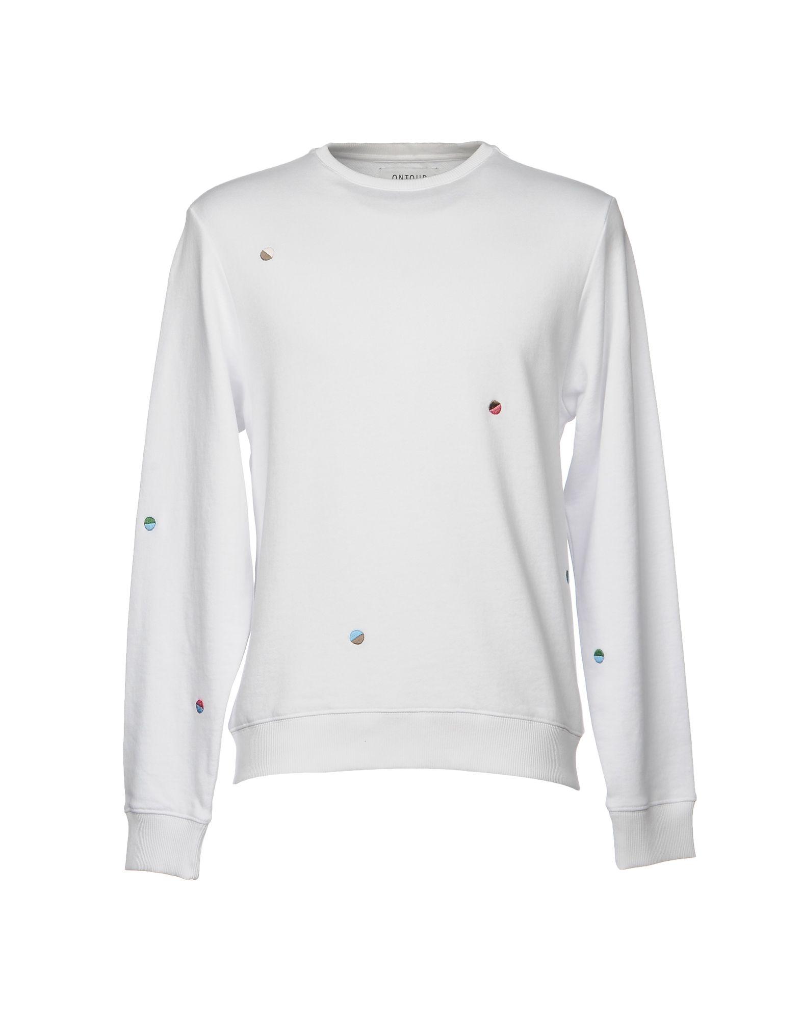 《送料無料》ONTOUR メンズ スウェットシャツ ホワイト S コットン 100%
