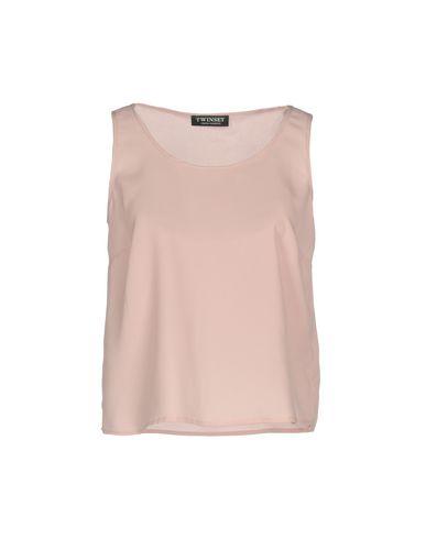 Фото - Топ без рукавов от TWINSET розового цвета