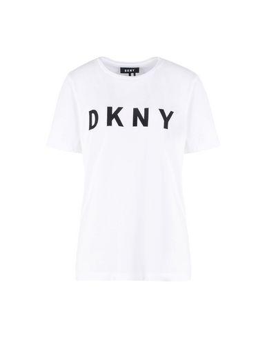 Фото - Женскую футболку DKNY белого цвета