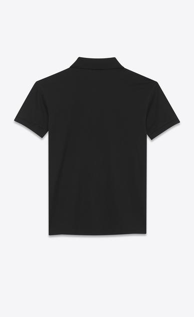 SAINT LAURENT ポロ メンズ Y ブレイゾン ポロシャツ (ブラック/コットンピケ) b_V4