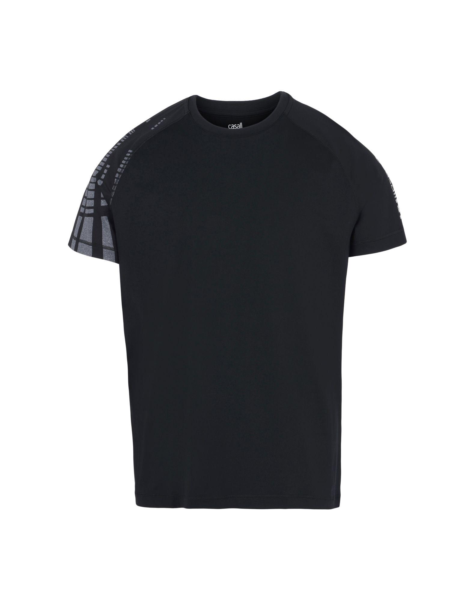 CASALL Футболка casall running функциональная куртка черный с принтом